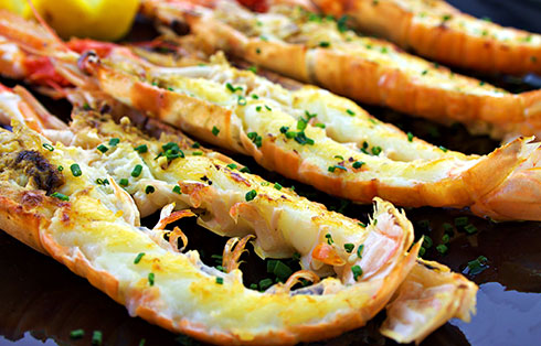 Scampies: Grilled or baked with lemon (400 gr)